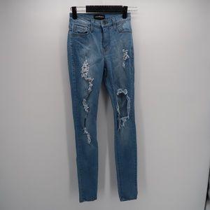 Fashion Nova Women's Blue Skinny Jeans Size 0